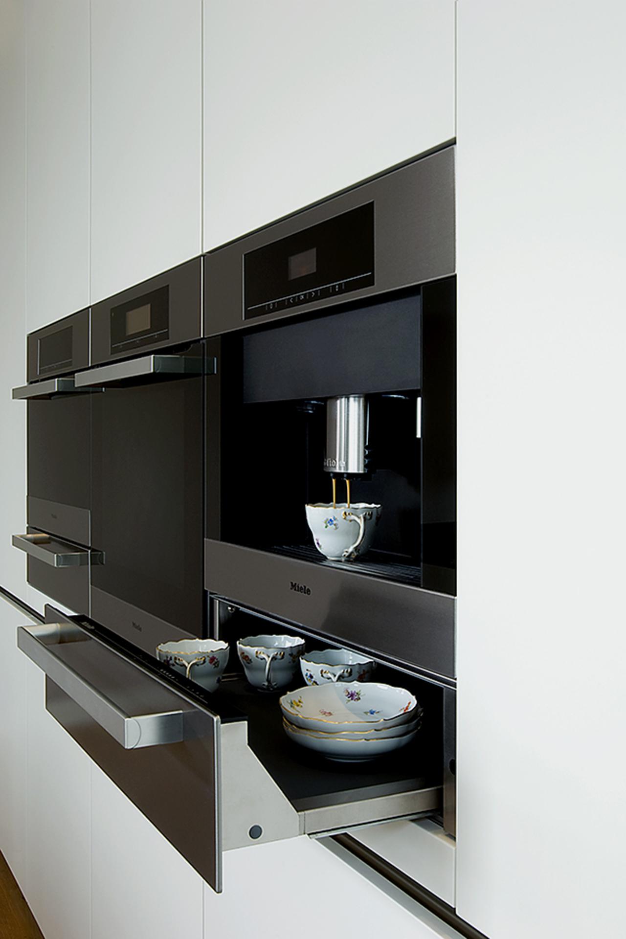 Design Küche, Luxus, Interieur, Wärmeschublade, Anna M. Tränkner Fotografie, Hamburg